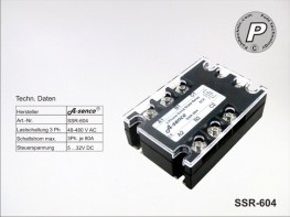 SSR-604 Halbleiter Solid State Relais 400VAC max. 80A AC-DC