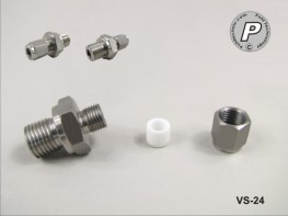 VS-24 Fühlerverschraubung 3mm, 1/4'', V4A, mit PTFE Quetschring