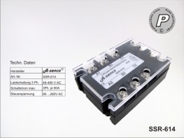 SSR-614 Halbleiter Solid State Relais 400VAC max. 80A AC-DC