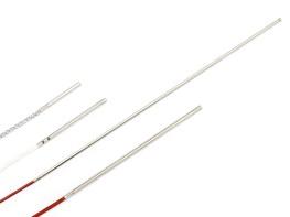 Miniatur-Kabeltemperaturfühler mit Ø 3mm Hülse Glasfaser / Glasfaser / Draht verzinkt 3x0,09mmm² / 2 Meter / 30mm (Ø 3mm)