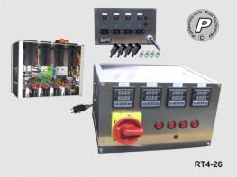 RT4-26 4-Kanal Temperatursteuerung Tischgerät bis 16A Gesamtlast