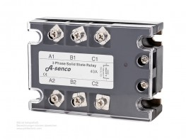 3-Phasen Halbleiter Solid State Relais 230-400V AC / DC Steuerspannung 80 A