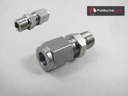 Klemmverschraubung für 6mm Ø mit PTFE Klemmring Gewinde wählbar