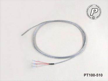PT100-510 Miniaturfühler 30x3mm 2m 400°C