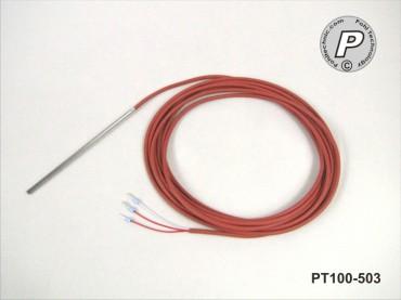 PT100-503 Kabelfühler 100x3mm 2m 205°C