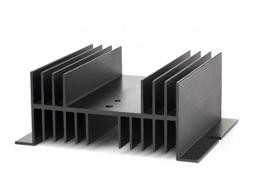 Kühlkörper für SSR Relais, flache Bauform 125x100mm