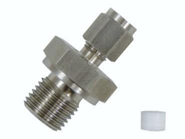 Klemmverschraubung für 3mm Ø mit PTFE Klemmring Gewinde wählbar M8x1 (Feingewinde)