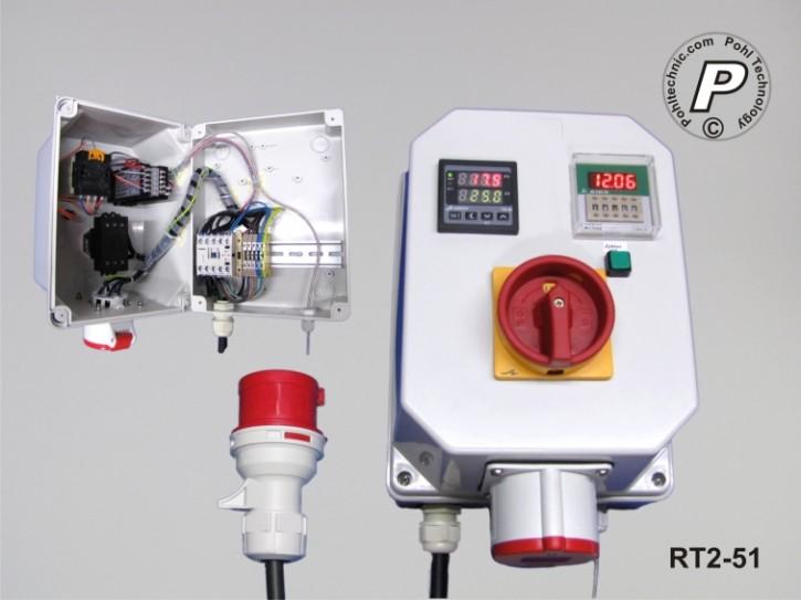 Temperatursteuerung mit Zeitschaltuhr - 400V