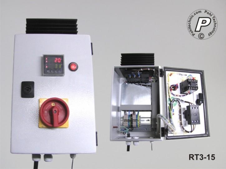 RT3-15 P.I.D.-Temperaturregler RT3-15 Lastschaltung 400VAC 9KW