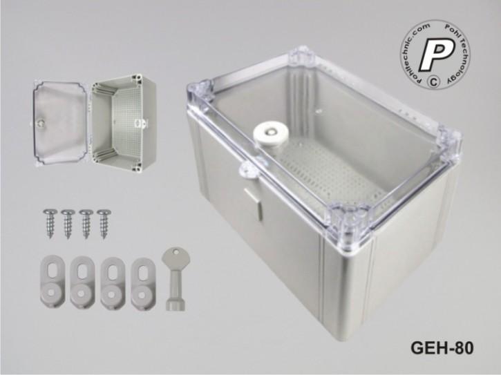 GEH-80 Wandschaltschrank m. Sichttüre und Basis-Montageplatte