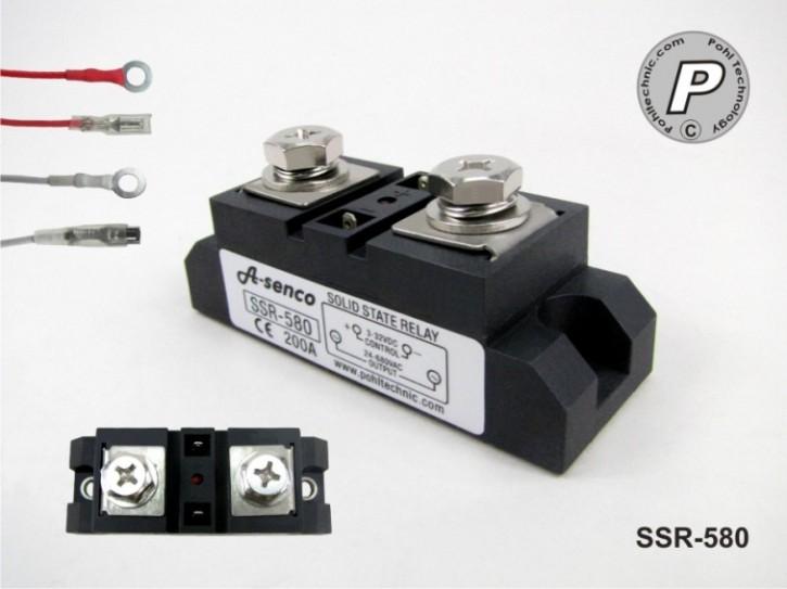 1-Phasen SSR-Relais 200 Ampere 24-680V AC