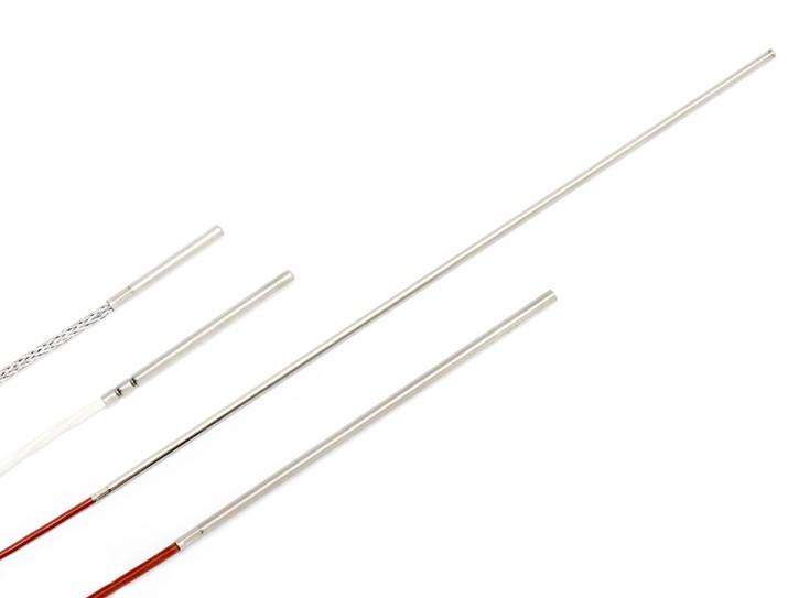 Miniatur-Kabeltemperaturfühler mit Ø 3mm Hülse FEP / Silikon 3x0,08mm² / 5 Meter / 30mm (Ø 3mm)