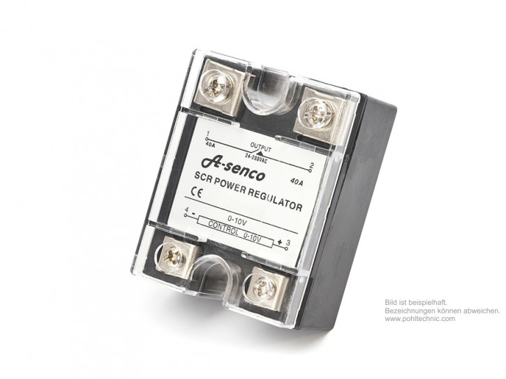 Thyristorsteller 1 x Phasenanschnitt 230V 4 - 20mA / 40 A
