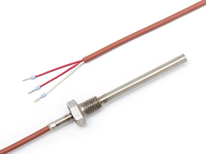 Pt100 Temperatursensor mit 90x7 Hülse und M12-Gewinde